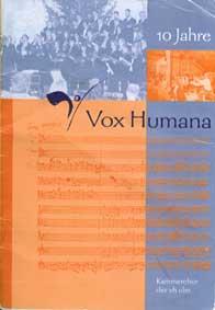 Broschüre zum 10-jährigen Bestehen von vox humana