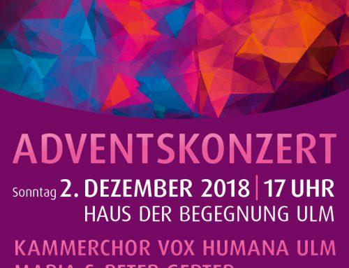 Adventskonzert, 2. Dezember 2019 Haus der Begegnung